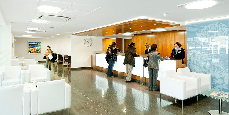 The Wellington Hospital reception area